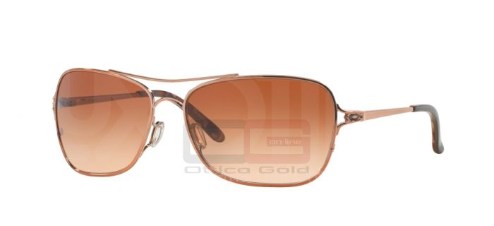 Oculos de sol Oakley OO4101 CONQUEST - 410102 POLISHED ROSE GOLD VR50 BROWN GRADIENT