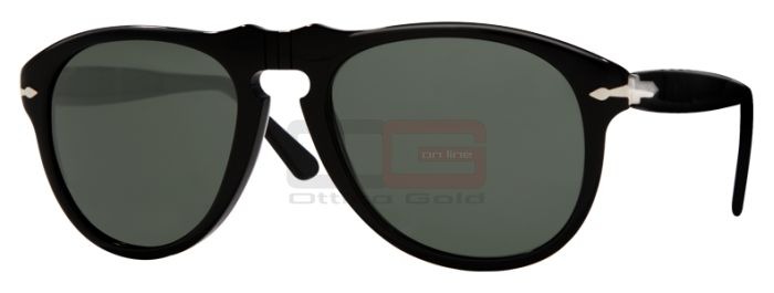 Occhiali da sole Persol PO0649 - 9531 BLACK CRYSTAL GREEN