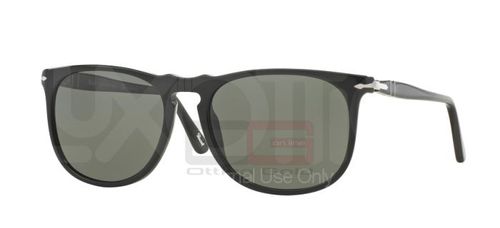Occhiali da sole Persol PO3113S - 9558 BLACK GREEN POLARIZED