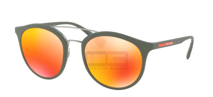 Occhiali da sole Prada Sport PS 04RS - UFI5M0 GREEN RUBBER BROWN MIRROR ORANGE