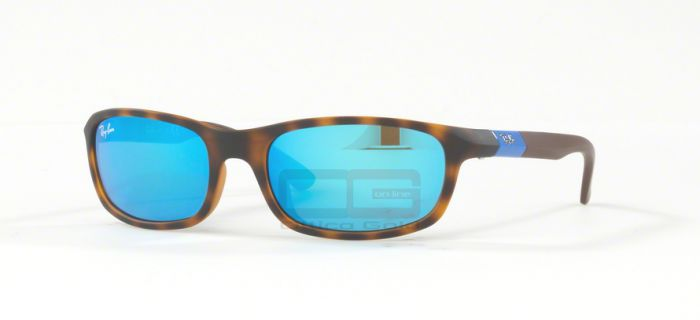 Oculos de sol Ray Ban junior RJ9056S NA - 702555 MATTE HAVANA FLASH BLUE