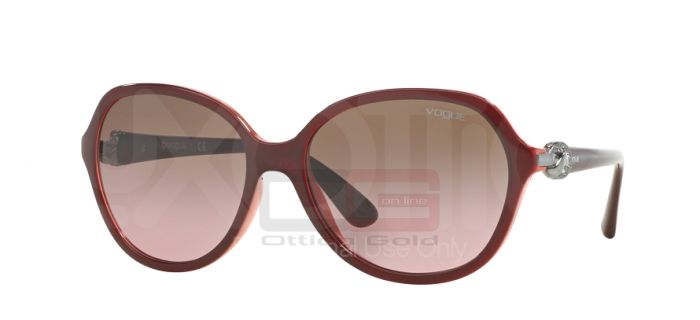 Солнцезащитные очки Vogue VO2916SB - 232314 BORDEAUX OPAL POWDER PINK GRADIENT BROWN